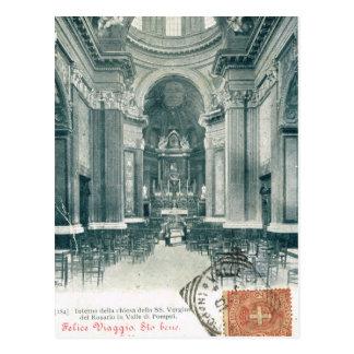 Della di Pompeia de rosario de Chiesa Vergina, Cartão Postal