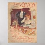 Della Scala 1900 do IL Teatro Poster