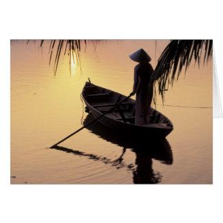 Delta de Ásia, Vietnam, Mekong, Can Tho. Cartão Comemorativo