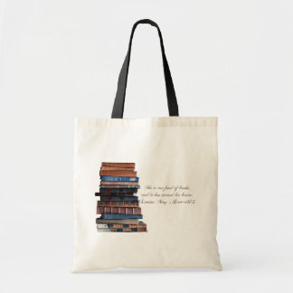 Demasiado afeiçoado de livros livro-velhos com cit sacola tote budget