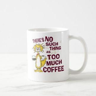 Demasiado café caneca de café