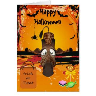 Demasiado cartão engraçado do Dia das Bruxas do