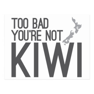 Demasiado mau você não é QUIVI (NOVA ZELÂNDIA) Cartão Postal