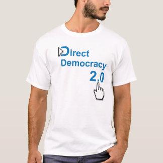 Democracia direta 2,0 camiseta
