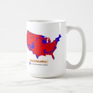Democratas são baixos eleitores da informação caneca de café