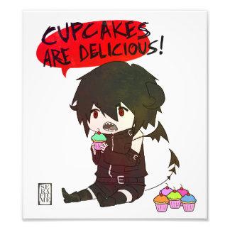 Demónio do cupcake arte de fotos