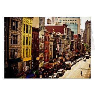 Densidade urbana - Nova Iorque Cartão