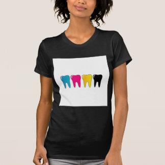 Dente de CMYK Camisetas