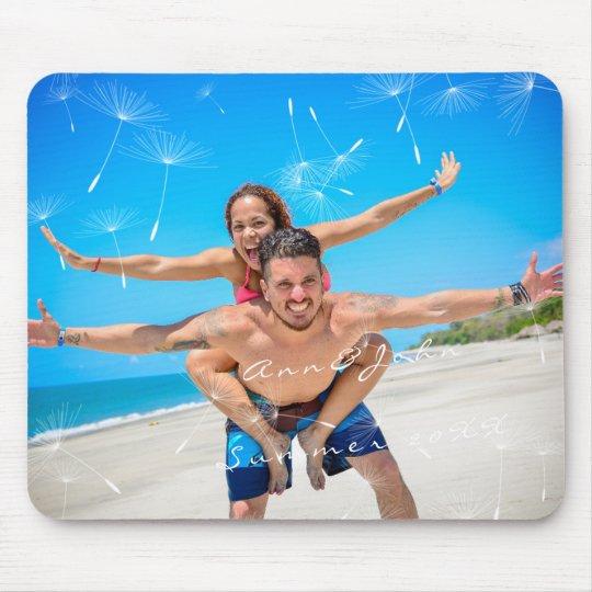 Dente-de-leão doce do verão do nome da foto do mouse pad