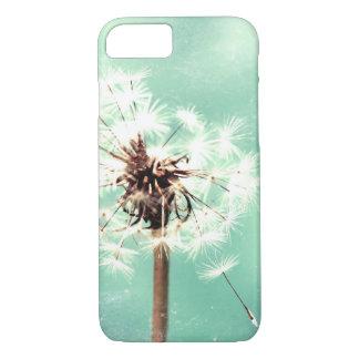 Dente-de-leão, verde da hortelã, capa de telefone