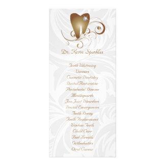 Dente do diamante do ouro do folheto do menu do se 10.16 x 22.86cm panfleto