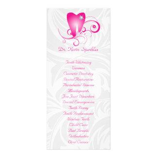 Dente do diamante do rosa do folheto do menu do se 10.16 x 22.86cm panfleto