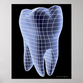 Dente, trabalhos de arte do computador de um dente poster