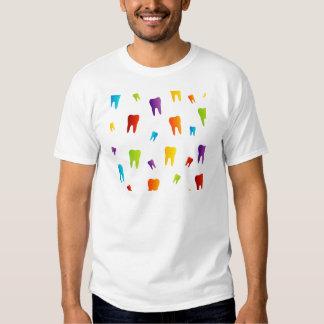 Dentes coloridos camiseta
