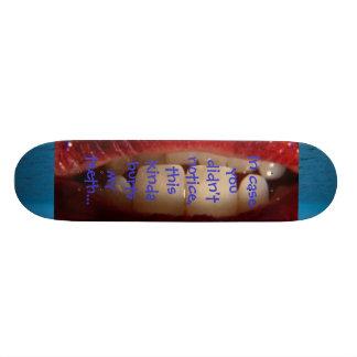 dentes de patinagem shape de skate 18,1cm