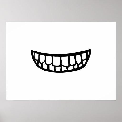 Dentes de sorriso pôsteres