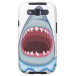 dentes do tubarão dos desenhos animados