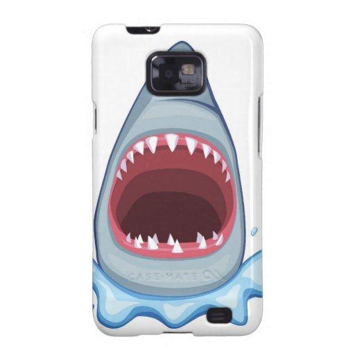 dentes do tubarão dos desenhos animados capa galaxy s2