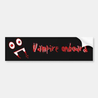 Dentes do vampiro do Dia das Bruxas Adesivo Para Carro