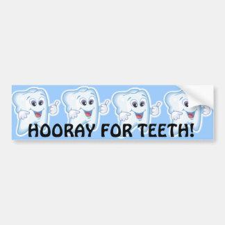 Dentes felizes saudáveis adesivo para carro