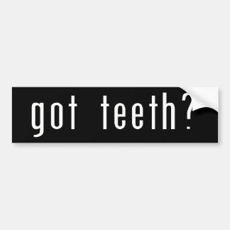 Dentes obtidos? adesivo para carro