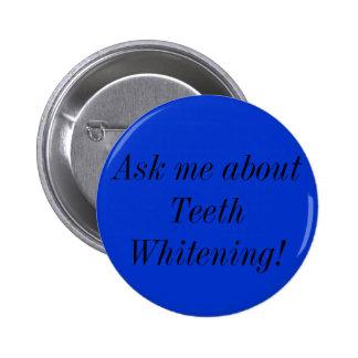 Dentes que whitening o botão bóton redondo 5.08cm
