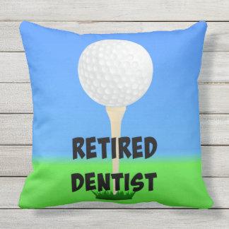 Dentista aposentado - design do golfe almofada