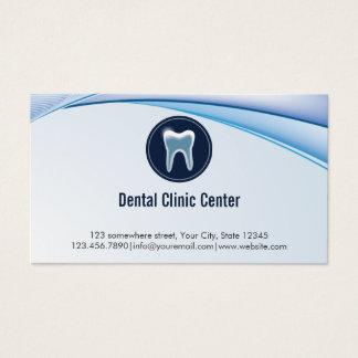 Dentista azul moderno da nomeação dental cartão de visitas