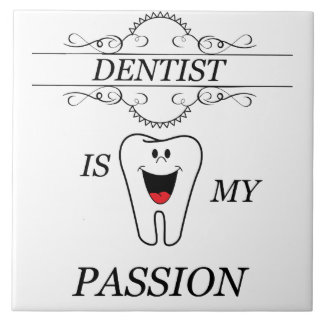 Dentista Azulejo Quadrado Grande