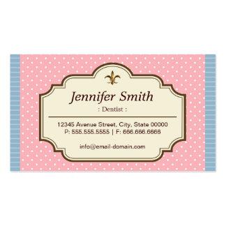 Dentista - bolinhas bonitos cartão de visita