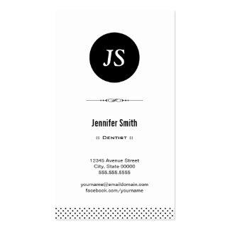 Dentista - branco preto limpo cartão de visita
