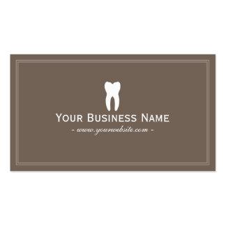 Dentista Brown liso simples dental Cartão De Visita