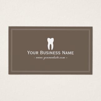 Dentista Brown liso simples dental Cartão De Visitas