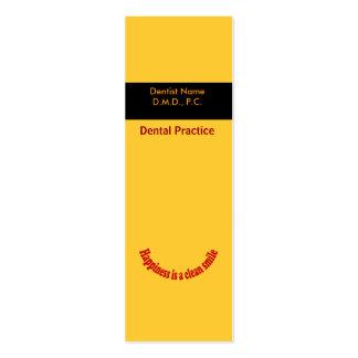 Dentista Cartão De Visita Skinny