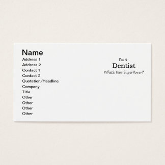Dentista Cartão De Visitas