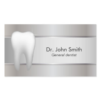 Dentista de prata profissional dental cartão de visita
