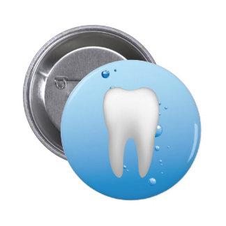 Dentista dental branco do escritório do dente & da bóton redondo 5.08cm
