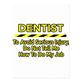 Dentista engraçado. Não me diga Cartão Postal