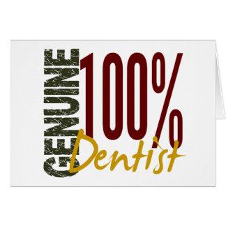 Dentista genuíno cartões