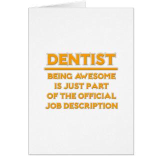 Dentista impressionante. Enumeração das funções Cartões