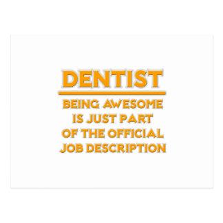 Dentista impressionante. Enumeração das funções Cartões Postais