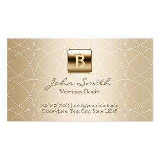 Dentista luxuoso do veterinário do monograma do cartão de visita