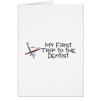 Dentista minha primeira viagem ao dentista cartão comemorativo