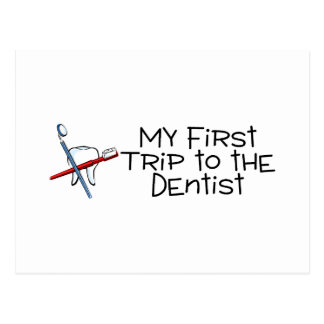 Dentista minha primeira viagem ao dentista cartao postal