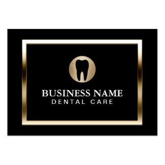Dentista moderno da beira do ouro dos cuidados cartão de visita grande