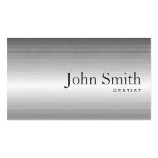 Dentista moderno do profissional do metal dos cartão de visita