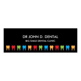 Dentista negócio dental ou cartão de visita