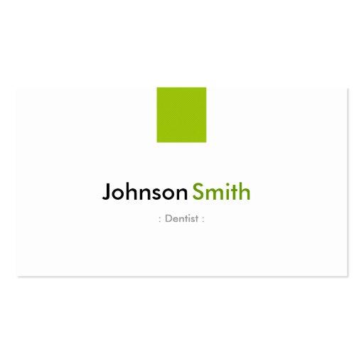 Dentista - verde simples da hortelã cartao de visita