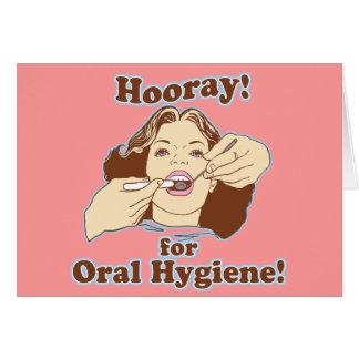 Dentistas e higienistas engraçados cartão