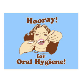 Dentistas e higienistas engraçados cartão postal